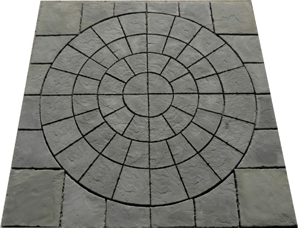 3.6m x 3.6m SLate Grey Rotunda Patio Kit